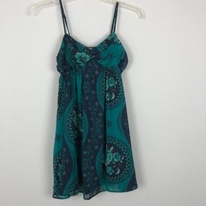 Free People | Green and Navy Dress